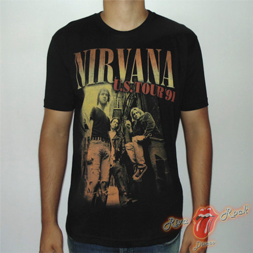 Camiseta Nirvana - U.S. Tour '91 - Stamp