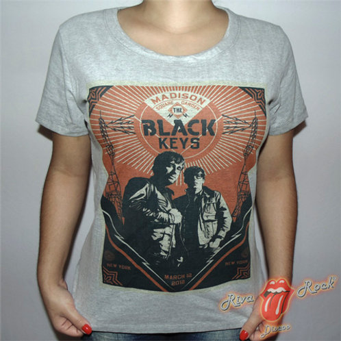 Camiseta Baby Look Black Keys - Madison Square Garden - Cinza - Bomber Classics