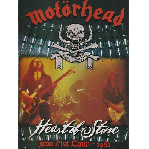 DVD Motörhead - Heart Of Stone Iron Fist Tour - 1982 - Lacrado