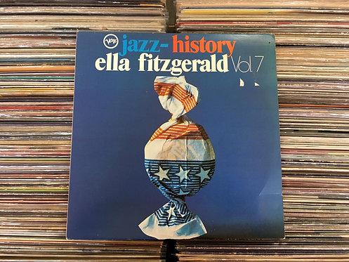 LP Ella Fitzgerald - Jazz History Vol. 7 - Duplo - Capa Dupla