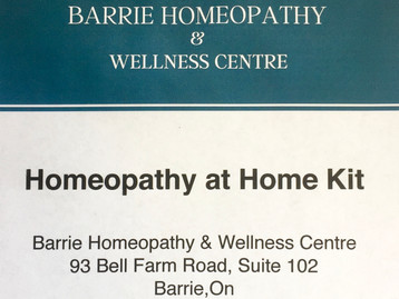 """Homeopathy at Home"" Kits now Available."