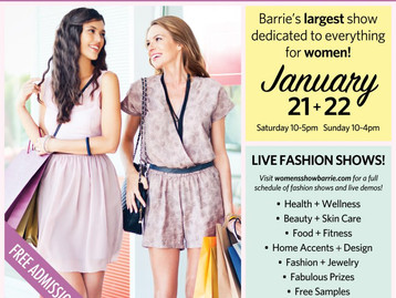 Come and see us at the Annual Barrie Women's Show!