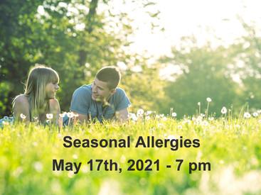 Free Zoom Class - Seasonal Allergies