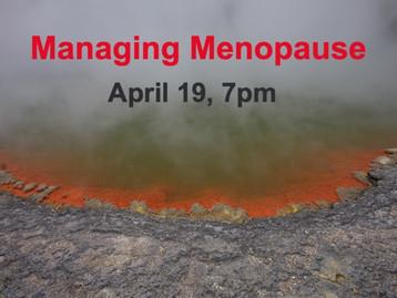 Free Zoom Class - Managing Menopause