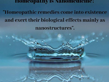 Homeopathy & Nanomedicine?