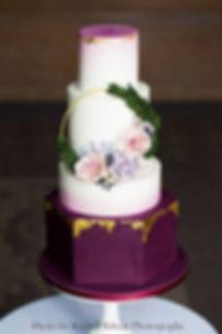 Modern wedding cake Lake District