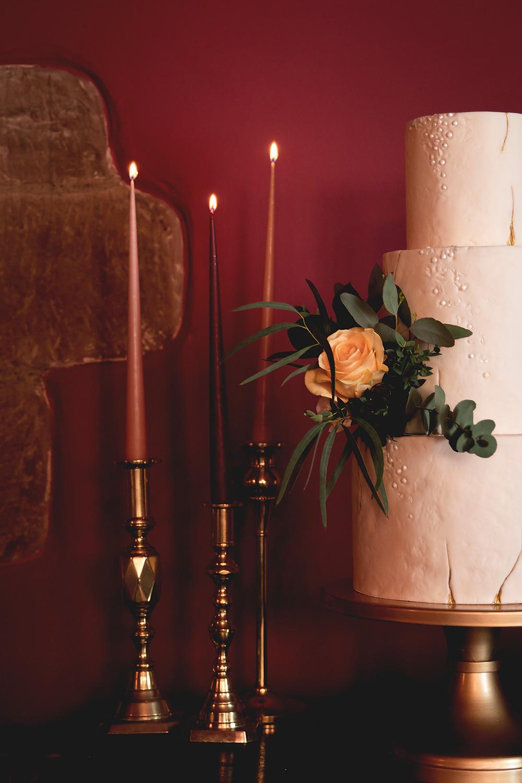 Lake District modern wedding cake