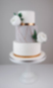 Modern wedding cake Lake District