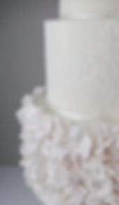 Sugar ruffles wedding cake Lake District