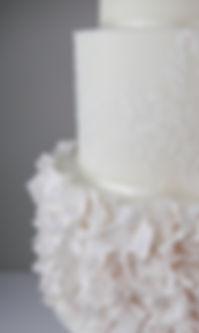 Sugar ruffles wedding cake Lake District