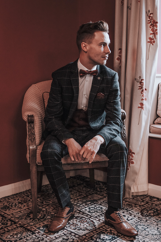 Tweed. english style wedding suit