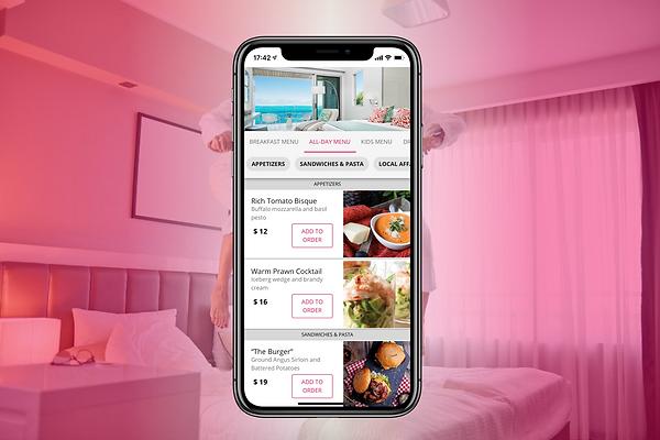 Digital food and beverage ordering for hotels
