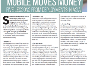 SABA Contributes to Hospitality Quarterly - Five Lessons From Asia!