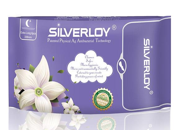 Silverloy Physical Antibacterial Sanitary Pads- Extra Long (6pcs)