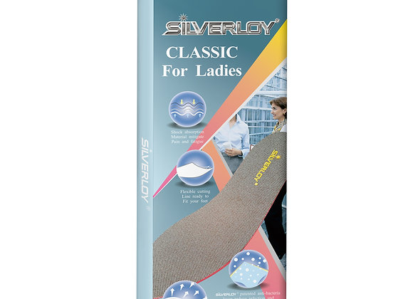 Silverloy Physical Ag Antibacterial Insole- Classic for Ladies