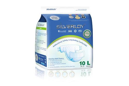 Silverloy Adult Diapers- Size L (10pcs)