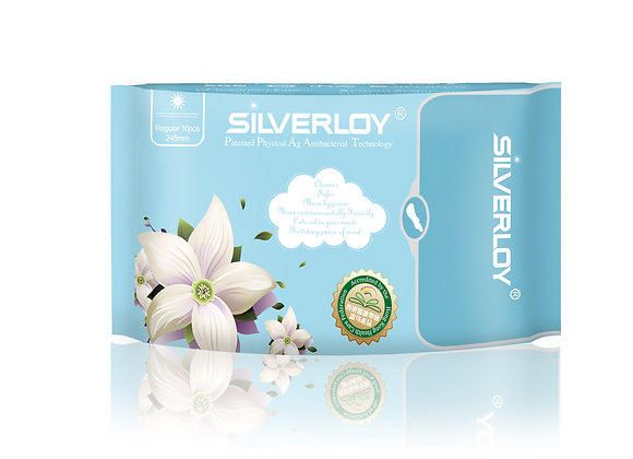 Silverloy Physical Antibacterial Sanitary Pads- Regular (10pcs)