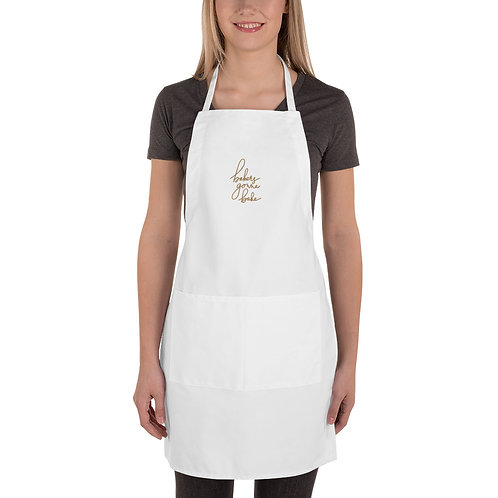 Bakers Gonna Bake Gold Embroidered Apron