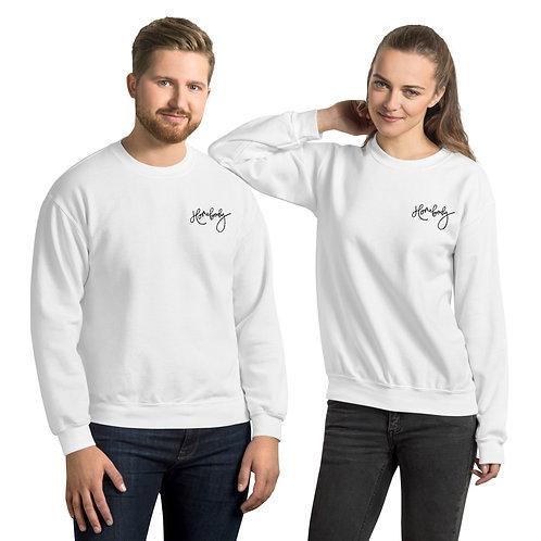 Embroidered Unisex Sweatshirt Black Logo