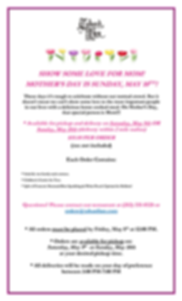 Mothers Day 2020 Prepared Meals One Page