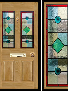 Stained glass door panels 006