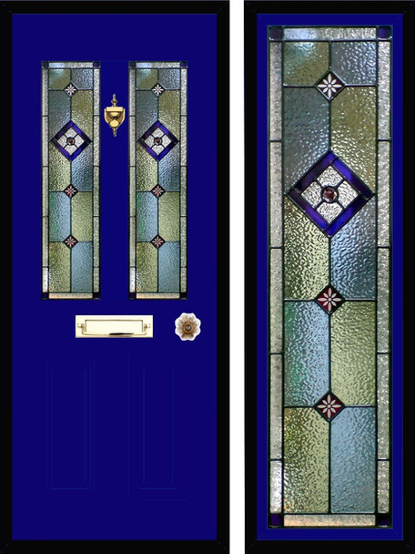 Stained glass door panels 039