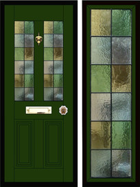 Stained glass door panels 029