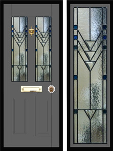 Stained glass door panels 044
