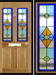 Stained glass door panels 030