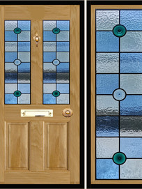 Stained glass door panels 003
