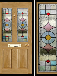Stained glass door panels 035