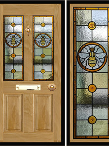 Stained glass door panels 007