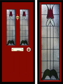 Stained glass door panels 040