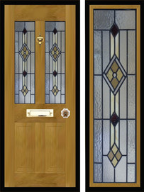 Stained glass door panels 034