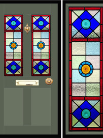 Stained glass door panels 002
