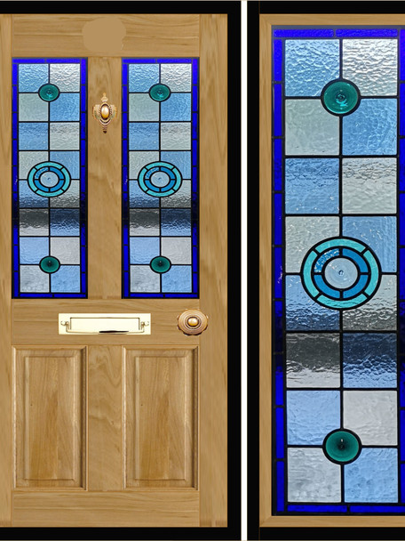 Stained glass door panels 015