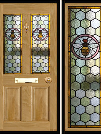 Stained glass door panels 009