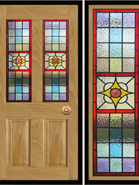 Stained glass door panels 031