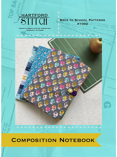 Composition Notebook Cover PDF Pattern