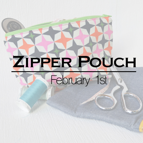 Zipper Pouch Sewing Workshop