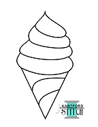 Ice Cream Coloring Sheet for the Ice Cream Coloring Page Raw Edge Applique tutorial sewing video
