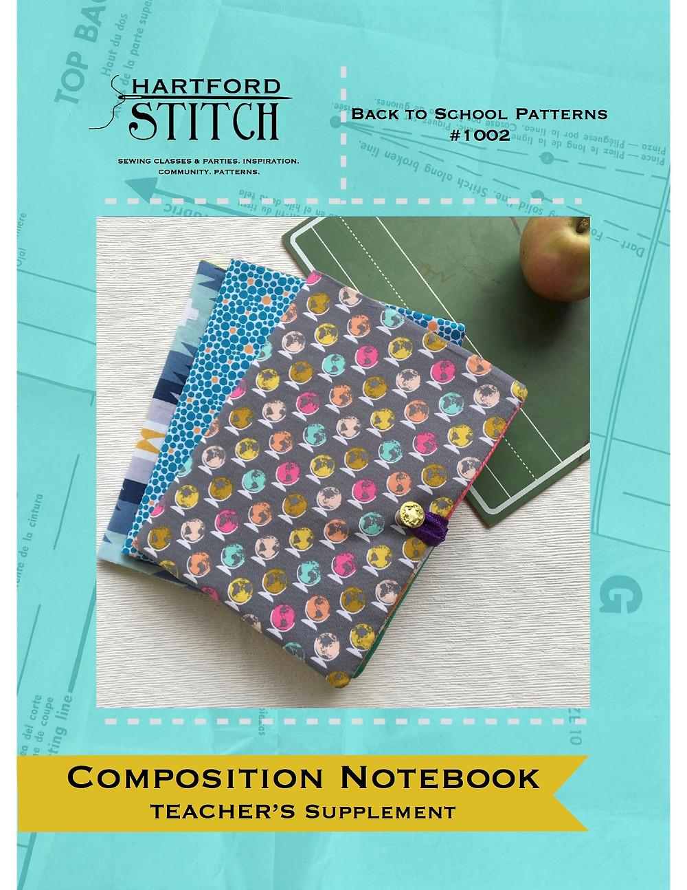 Sewing Teacher Pattern Composition Notebook