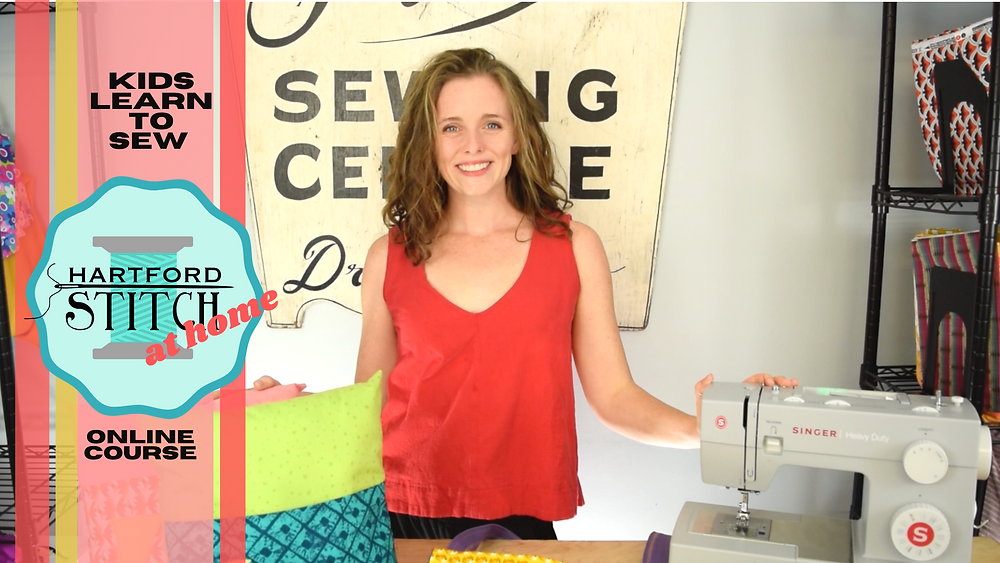 Kids Learn to Sew E-Course with Hartford Stitch.