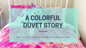 How to dye a duvet cover with Procion Dyes and Kids