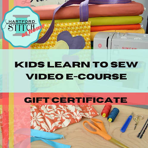 Kids Learn to Sew E-Course Gift Certificate