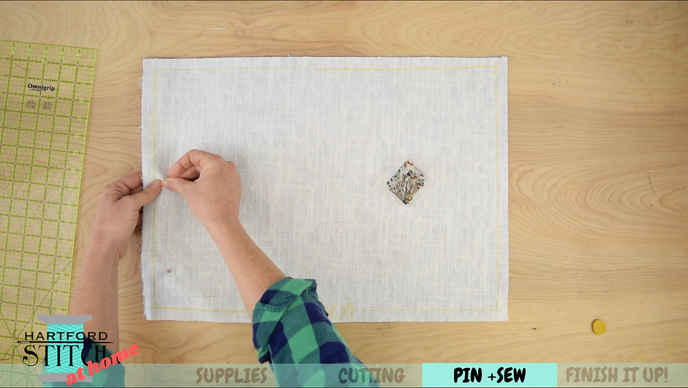 Applique place mat for Hartford Stitch at Home video: Sew Yourself a Perfectly Set Table
