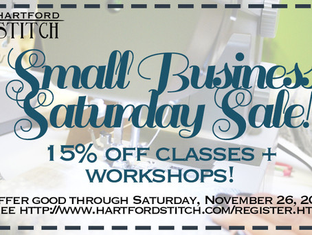 On the 1st Day of Stitchmas: Small Business Saturday Sale