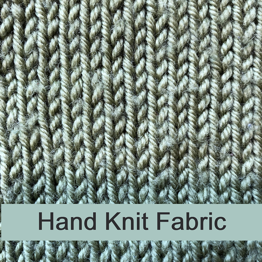 Hand knit fabric grain in woven fabric vs knit fabric
