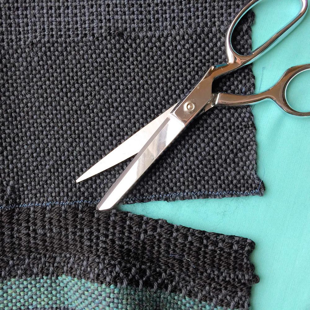 Cutting Handwoven Fabric