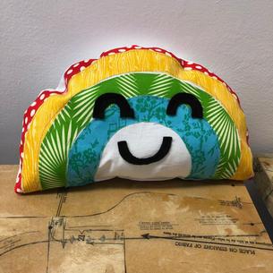 Happy Rainbow Pillow